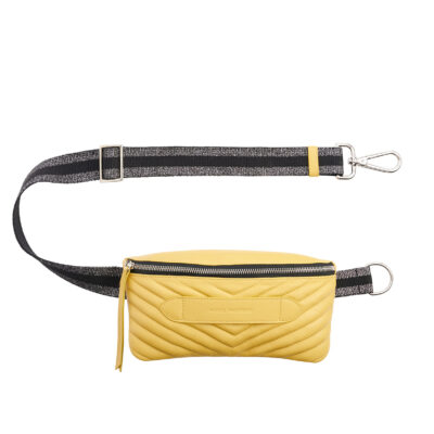 Coachella Quilted Yellow Belt Bag