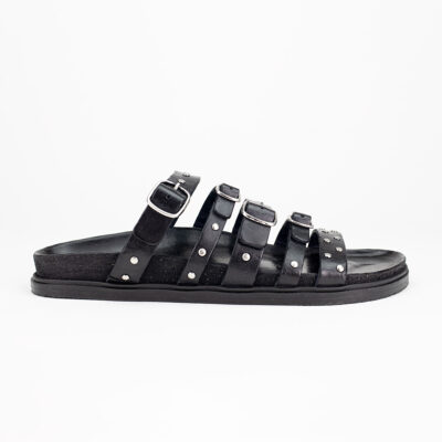 Multi Strap Sandal Black
