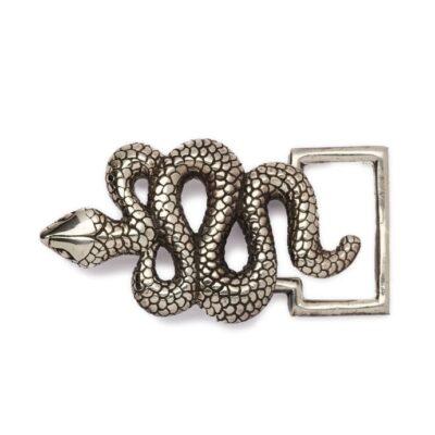 Silver Snake Buckle