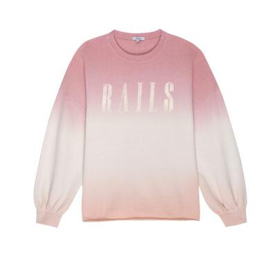 Rails Signature Sweatshirt Pink Peach Dip Dye