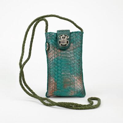 Aqua Python Phone Bag Marcus