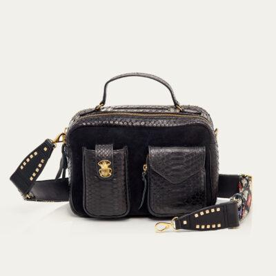 Black Python Bag Cesar