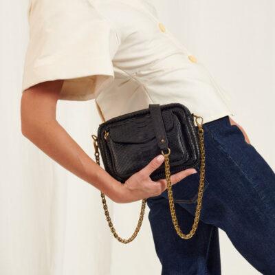 Charly Bag Black Python