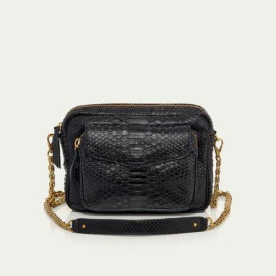 Big Charly Bag Black Gold Chain