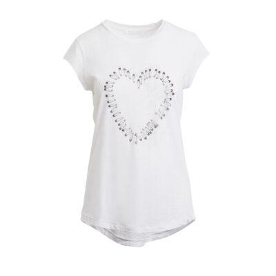 Nella Pinned Heart T-shirt