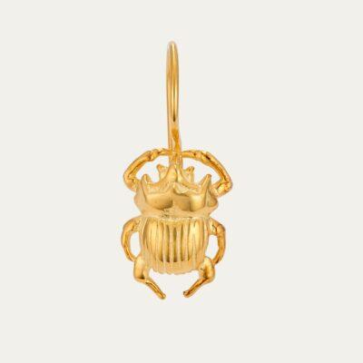 Golden Beetle Cleo Earring