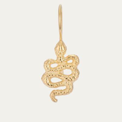 Golden Snake Cleo Earring