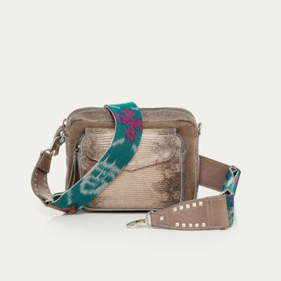 Charly Bag Grey Lizard