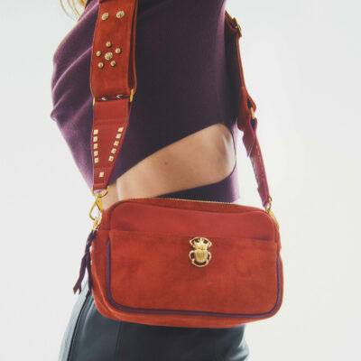 Lily Calfskin Bag Brick