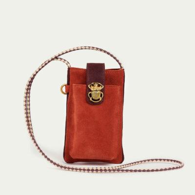Brick Leather Phone Bag Double Marcus