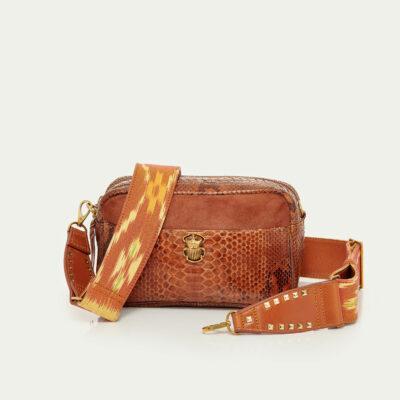 Lily Python Bag Moka Mix