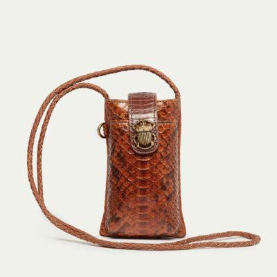 Moka Python Phone Bag Double Marcus