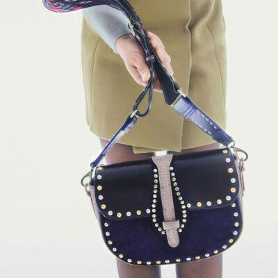 Lizard Bag Andrea Grey Studs