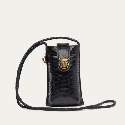 Black Python Phone Bag Double Marcus