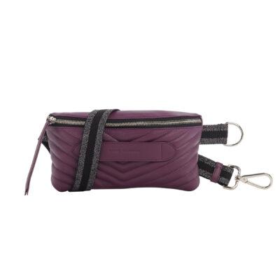 Coachella Aubergine Quilted Belt Bag