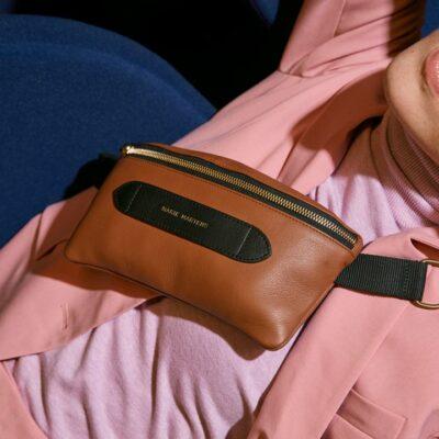 Coachella Brown Brass Belt Bag