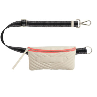 Coachella Quilted Off White Belt Bag