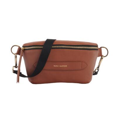 Neufmille Brown Brass XL Belt Bag