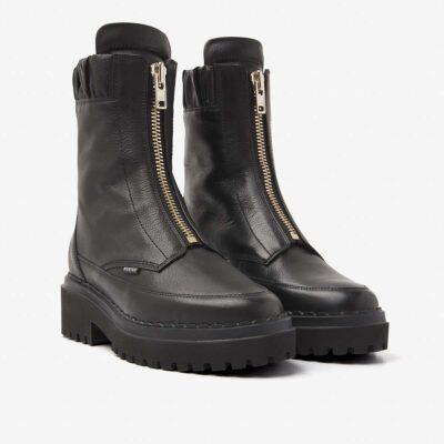 Fae Wayne Black Biker Boot