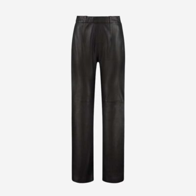 Flared Leather Pants