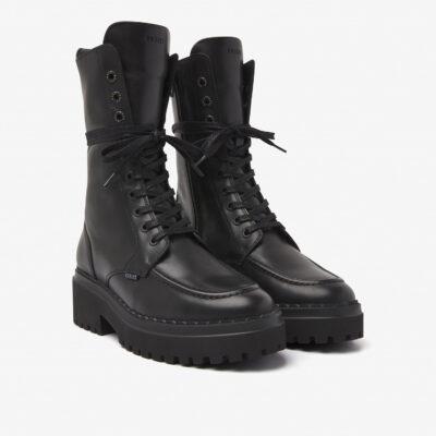 Fae Aubine Black Biker Boot