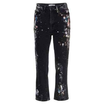 Straight Up Slim Painted Denim Jeans